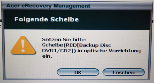 Recovery von Windows