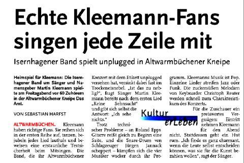 Kleemann Artikel AMT 01