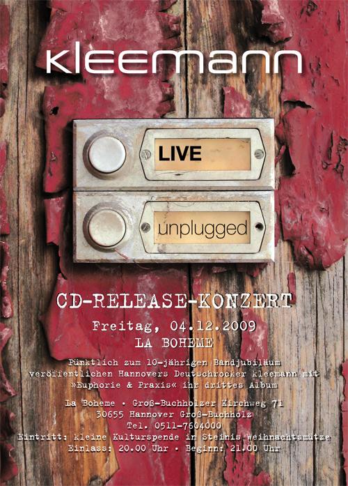 unplugged:euphorie&praxis - Kleemann - neue CD