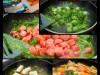 Tortellini a la Spinat, Gorgonzola, Schinkenwürstchen