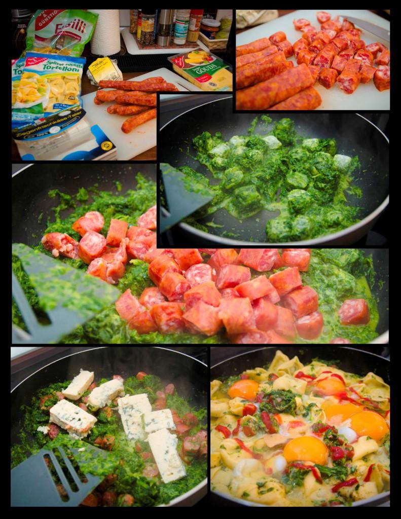 spinatauflauf mit gorgonzola